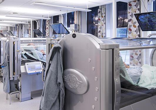Behandlingsrom ved Haukeland Universitetssykehus