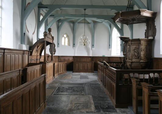 Photo of the interiour in a medieval church