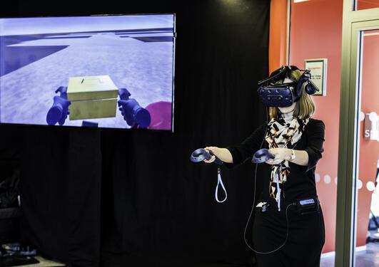 Iselin Nybø legger virtuell grunnstein