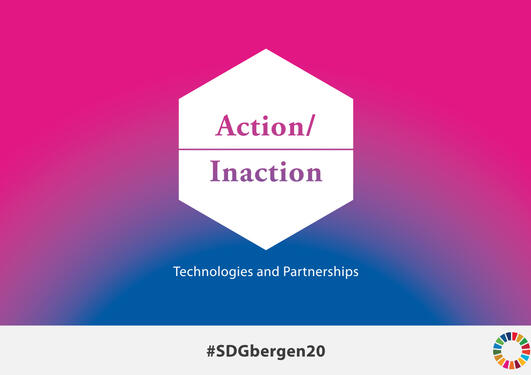 Logo 2020 SDG Conference Bergen with hashtag