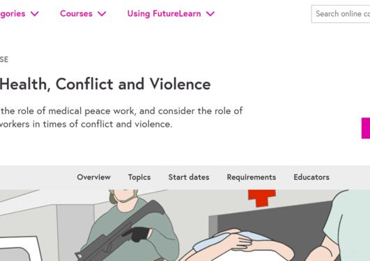 Illustrasjon/screen shot av nettside for kurs