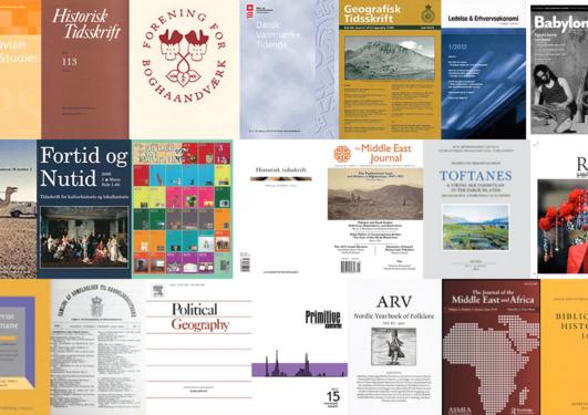 Collage av ymse tidsskrift