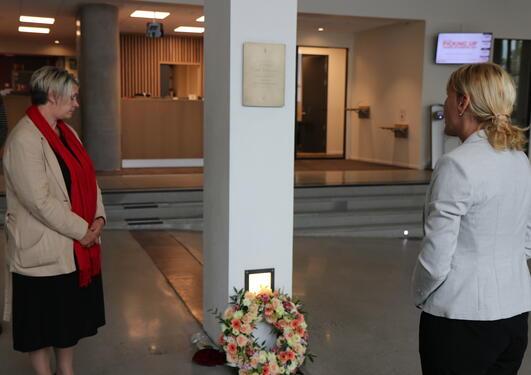 Ordfører Persen og rektor Hagen