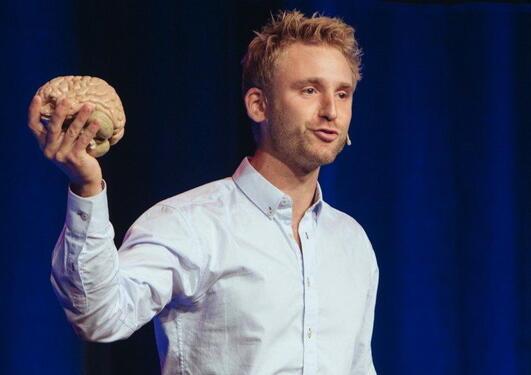 Audun Havnen fra UiB og Haukeland vant Forsker grand prix Bergen, og deltar dermed i Oslo-finalen