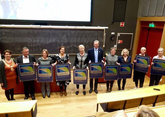 Utdeling av diplom - Miljøfyrtårn 2016