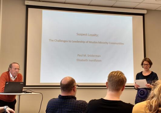 Ivarsflaten presenting Sniderman at DIGSSCORE seminar