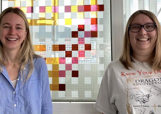 Masterstudentene Hanne Iglebæk Christensen (til venstre) og Marie Hauso.