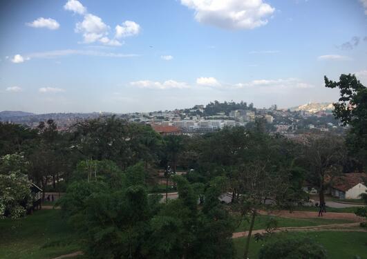 View over Kampala
