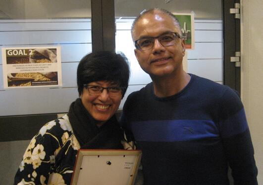 Sudha Basnet and her husband Suman Basnet