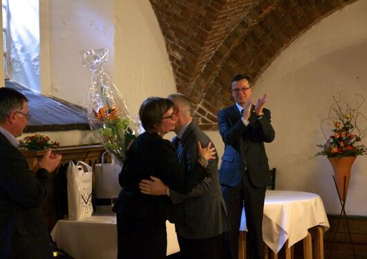 Fra venstre Kjell Bernstrøm, Kari Tove Elvbakken, Sigmund Grønmo og Dag Rune Olsen
