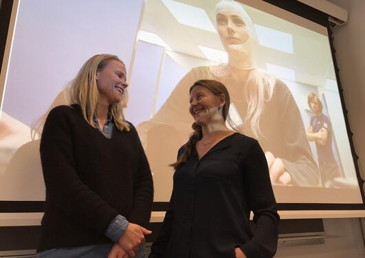 Janne Grønli and Torhild Pedersen