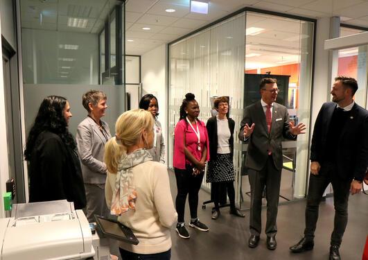 Utviklingsminister Dag-Inge Ulstein (KrF) på UiB-besøk