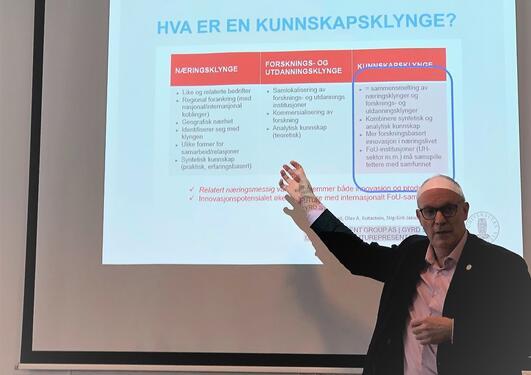 Robert Bjerknes presenterer