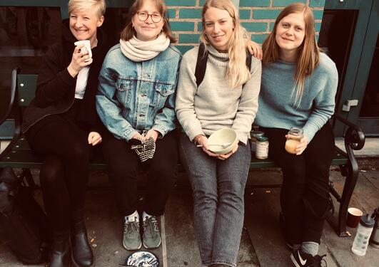 Hannah with fellow students in Bergen