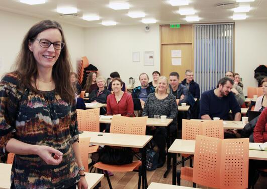 OPPFORDERT: Vigdis Vandvik, professor ved Institutt for biologi og leder for bioCEED, oppfordret andre UiB-miljøer til å søke om SFU-status.