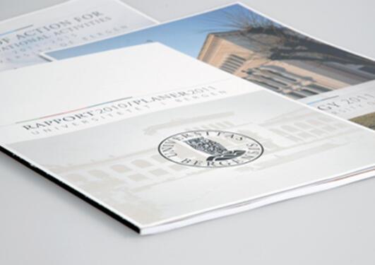 Brosjyrer i UiB profil