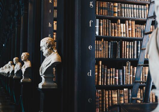 bibliotek og byster