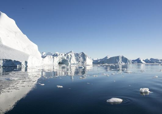 Stock photo of ice bergs and ocean