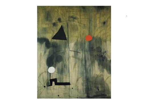 "The painting ""The birth of the world"" by J. Miro (abstract)"