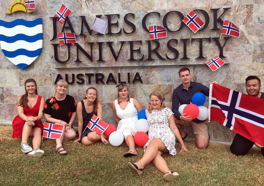 Norske studenter ved James Cook University, Australia