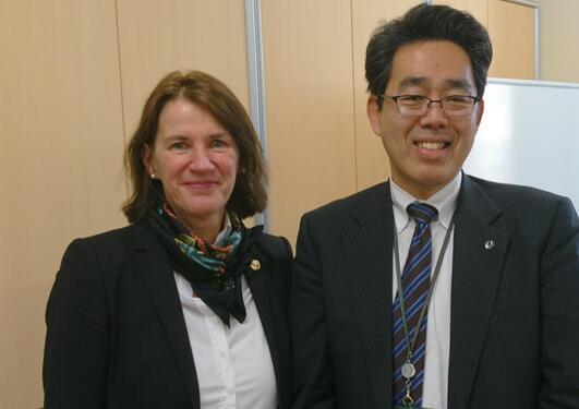 Bettina Husebø og Ryuta Kawashima