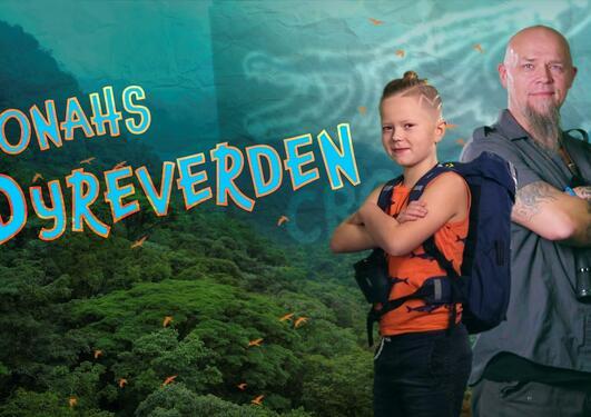Jonahs dyreverden er en serie på NRK Super. Her er Jonah og pappaen.