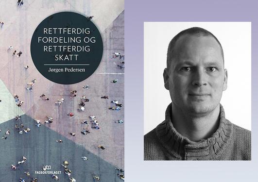 Bokomslaget (forsiden) og bilde av Jørgen Pedersen