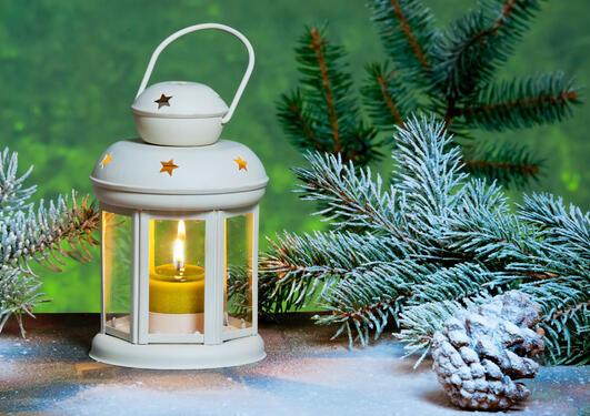 Illustrasjonsfoto av julelykt
