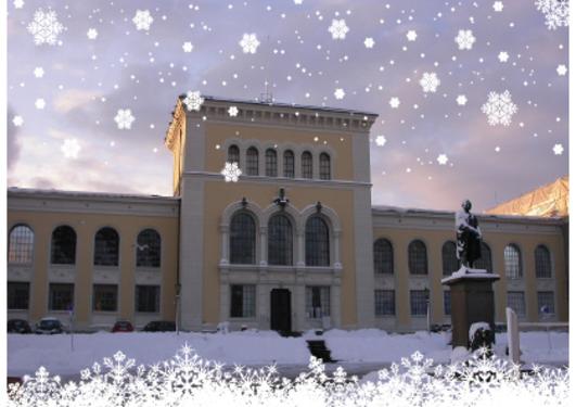 Bildet illustrere et julemotiv av museet.