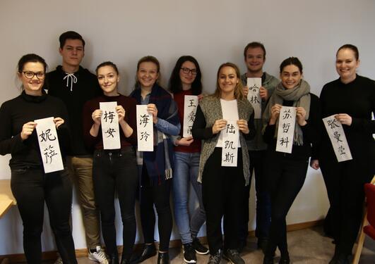 Studentene som skal ha praksis i Kina