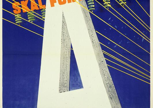 Gammel plakat for Arbeiderpartiet