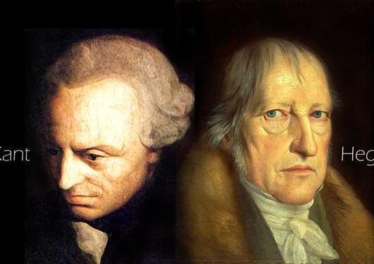 Kant og Hegel (bilde av hodene deres)