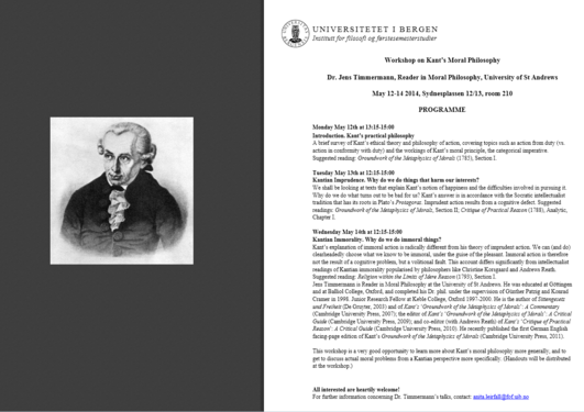Image of Kant + workshop programme