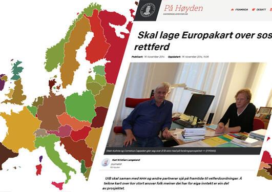 Illustrasjon FORSIDE pÅ hØYDEN OG EUROPAKART