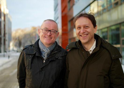 Portrait of Kjell Jørgen Hole and Øyvind Ytrehus