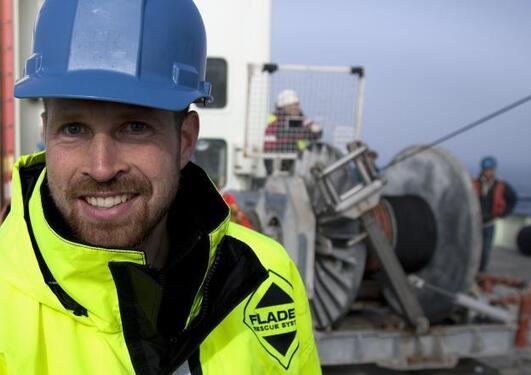 Kjetil Våge på tokt i Danmarkstredet i 2011.