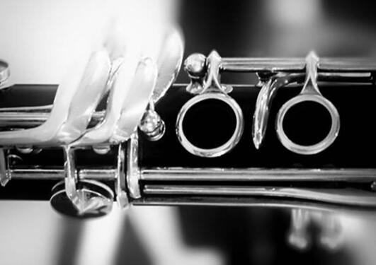 Nærbilde av en klarinett