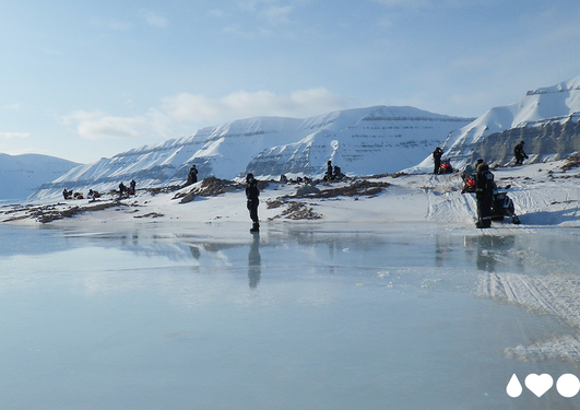 Researchers in the arctic