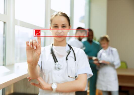 Illustrasjon av søketjeneste for sykehuspersonal