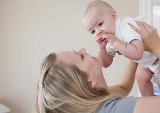 Enslig mor med barn