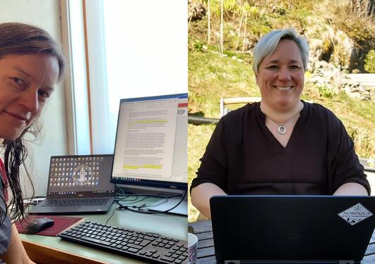 Klimaforskerne Anne Bjune og Vigdis Vandvik