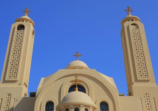 Koptisk kirke i Sharm el Sheikh, Egypt.