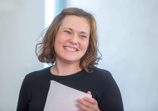 Portrett av smilende Kristin Stavnet Jordbru