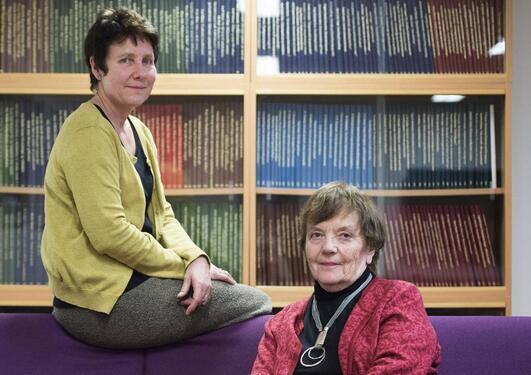 Kari Wærness (til h.) og Karen Christensen i BT.