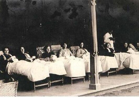 Motiv fra Luster sanatorium 1913
