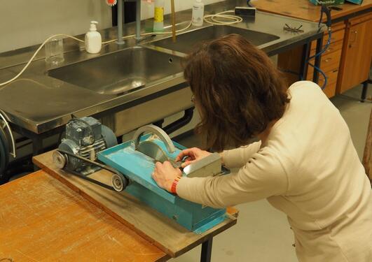 Lapidary trim saw