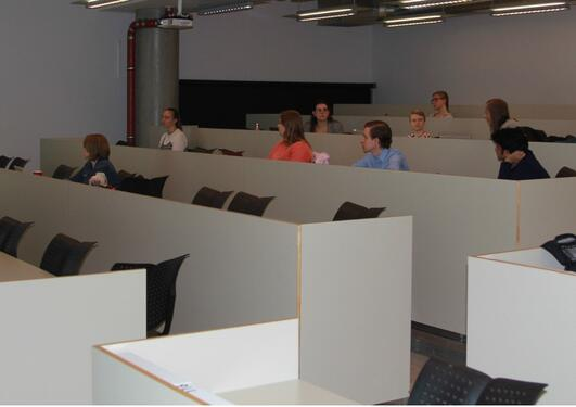 Lecture room at Dept. of Biomedicine