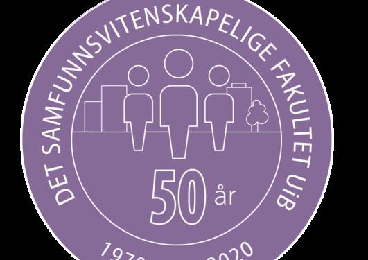Logo 50-års jubileum SV-fakultetet UiB
