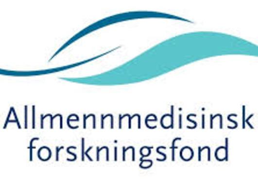 Bildet viser logoen til Allmennmedisinsk forskningsfond
