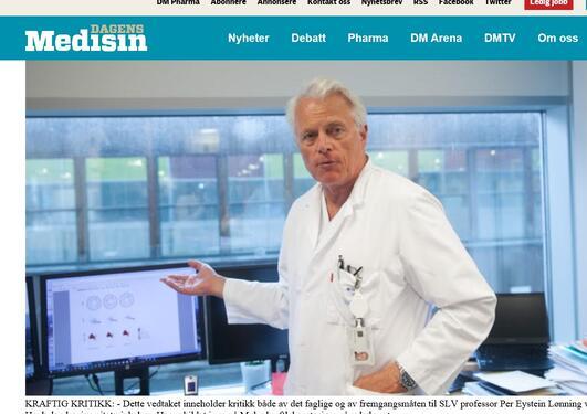 Lønning på Mohn kreftforskningslaboratorium